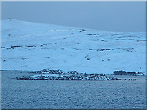 HU5562 : Iron Age Fort, Loch of Huxter, Whalsay, Shetland by John Dally