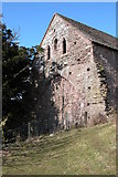 SO2827 : End wall of a barn, Llanthony Priory by Philip Halling