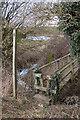 SO8566 : Footbridge, Doverdale by Philip Halling