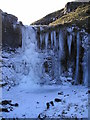 SD9369 : Frozen waterfall, Cote Gill by Richard Swales