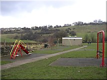 SE1321 : Play Area at the end of Carr Green Lane, Rastrick (SE139211) by Humphrey Bolton
