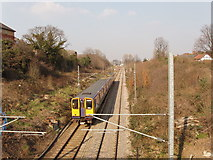 TQ2081 : North London line railway from Western Avenue, Acton by David Hawgood