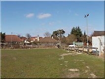 TQ2081 : Sports ground and car park, off Horn Lane, North Acton by David Hawgood
