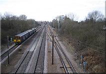 TL2501 : East Coast Main Line railway at Potters Bar by Nigel Cox