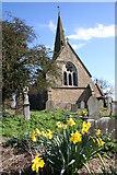 SK8770 : Springtime at All Saints' church by Richard Croft