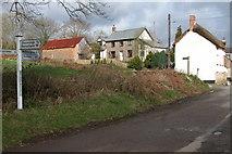 SS6613 : Cottages near Kersham Bridge by Philip Halling
