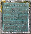 SN6609 : Plaque on Penlle'r Castell by Nigel Davies