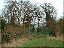 TM0890 : Gateway to the castle at New Buckenham, Norfolk. by Andy Peacock