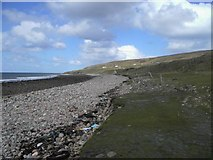 NG7386 : Stony beach of Cladach Melvaig by Graham Benny