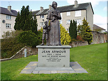 NX9775 : Jean Armour Statue, Dumfries by Kevin Rae