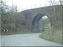 SO1872 : Railway bridge (Heart of Wales Line) over the B4356 by Andrew Longton
