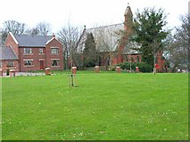 NZ3134 : Cornforth Village Green and Church by Oliver Dixon