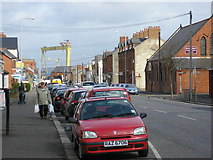 J3673 : Bloomfield Avenue in East Belfast by Dennis Reynolds