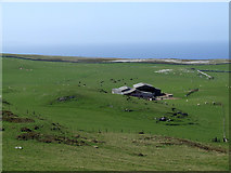 SH7683 : Farm Buildings on Great Orme Country Park by Nigel Williams