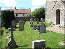 SS7108 : Nymet Rowland churchyard by David Smith