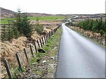 NX2964 : Moorland road at Culvennan by Oliver Dixon