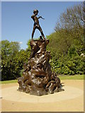 SJ3787 : Peter Pan's Statue, Sefton Park by Sue Adair