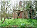 NX3543 : Abandoned lodge in the grounds of Monreith House by Oliver Dixon
