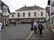 SD3598 : Main Square and Town Hall, Hawkshead by Humphrey Bolton