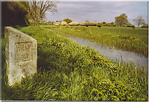 TQ0524 : Canal Milestone on the Wey and Arun Canal by Colin Smith