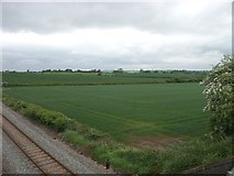SP0271 : Railway and fields by Martin Wilson