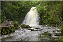 J3996 : Glenoe waterfall (1) by Albert Bridge
