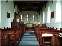 NY3459 : Interior of St Marys Church, Beaumont by Alexander P Kapp