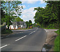 SZ3397 : B3054 road junction at Portmore by Peter Facey