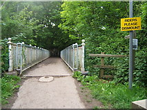 TQ2652 : Bridge carrying the North Downs Way over the A217 by Roger Miller