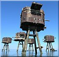 TR0779 : Red Sands Maunsell Towers by Hywel Williams