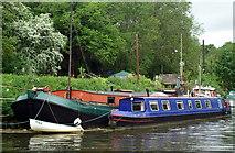 ST6469 : Moorings above Hanham Lock by Pierre Terre