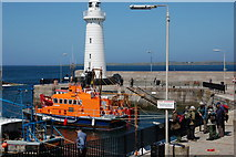 J5980 : Donaghadee harbour and lighthouse by Albert Bridge