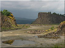 NS7791 : Murrayshall Quarry by Andrew Smith