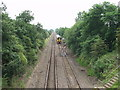 SJ3329 : Shrewsbury to Chester railway at Babbinswood by John Haynes