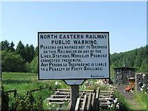 SE8191 : Sign at Levisham Station. by Steve Partridge