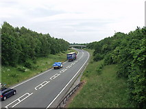 SJ3425 : The A5 at West Felton by John Haynes