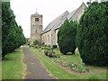 SJ3033 : Hengoed with Gobowen Parish Church by John Haynes