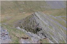 NY3228 : Sharp Edge viewed from above by Philip Halling