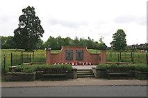 TG2312 : Old Catton War Memorial by Margot Thornley