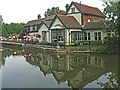 TL3808 : Fish and Eels Public House at Dobb's Weir by Christine Matthews