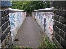 SE1316 : Footbridge over the railway, Springwood, Marsh (Huddersfield) by Humphrey Bolton