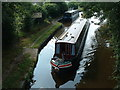 SJ3333 : Canal boat at Hindford by Alan Stewart