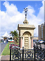 SD3317 : Fernley Drinking Fountain, Southport promenade by Stephen Craven