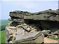 SK2483 : Robin Hood's Cave, Stanage Edge by Stephen Horncastle