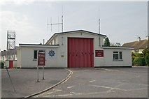 ST0107 : Cullompton fire station by Kevin Hale