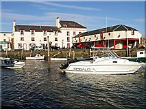 NO4102 : Crusoe Hotel and harbour, Lower Largo by Jim Bain