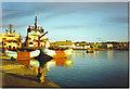 NJ9505 : Oil Rig Supply Boats at Footdee. by Colin Smith