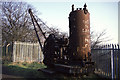 SD7606 : Steam crane at Mount Sion by Chris Allen