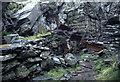 SH6745 : Wrysgan Slate Quarry by Chris Allen
