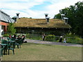 TQ3473 : Turf Roof, Horniman Museum by Danny P Robinson